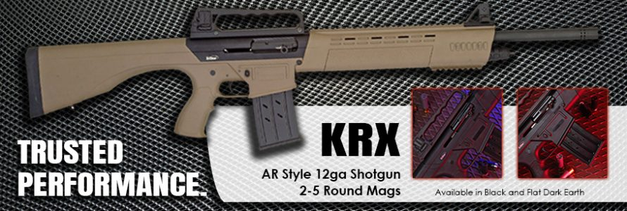 KRX in Flat Dark Earth with close up of pistol grip