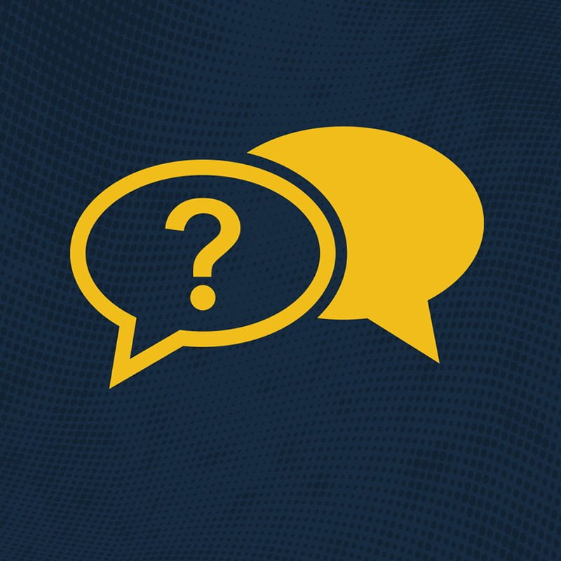 Frequently Asked Questions Icon in yellow